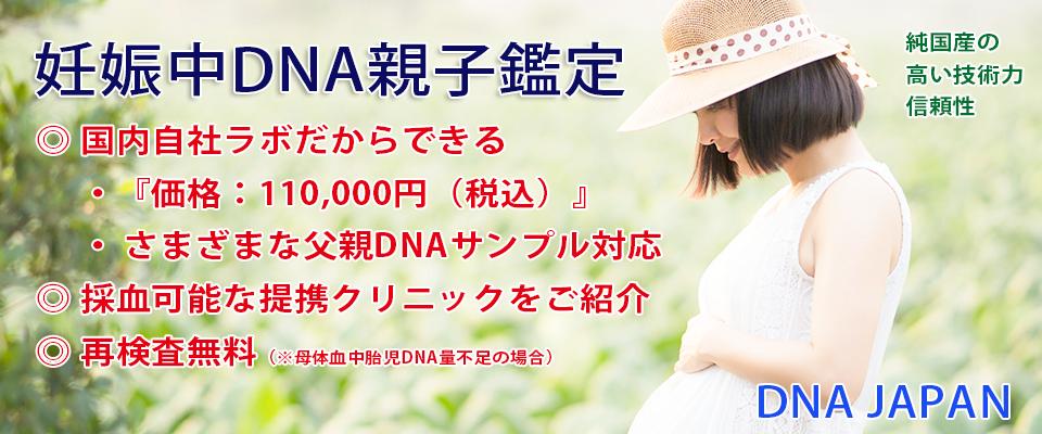 DNAJAPAMの妊娠中DNA親子鑑定 国内自社ラボ検査『11,000円(税込)』